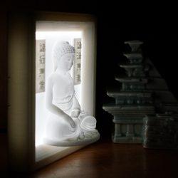 ((자체제작+음성모듈추가가능))부처님  LED  액자  Type 3D Light