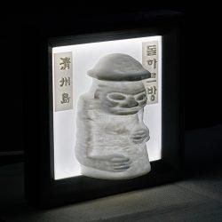 ((기획상품))제주 하르방  LED  액자 3D Light(음성모듈+문구삽입)
