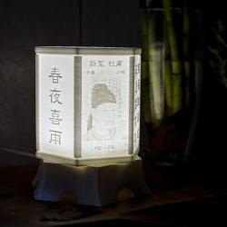 ((맞춤상품))원숙함에 어울리는 탁상용 3D라이트- 육각형(대) 리쏘페인 입체조명 LED 무드등 스탠드(맞춤제작, 음성지원가능)