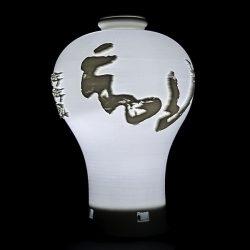 ((맞춤상품)) 도자기 매병형 3D Light(이미지+음성모듈+USB충전)