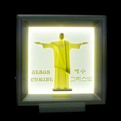 ((기획상품))그리스도상 LED  액자 3D Light(음성모듈+문구삽입)